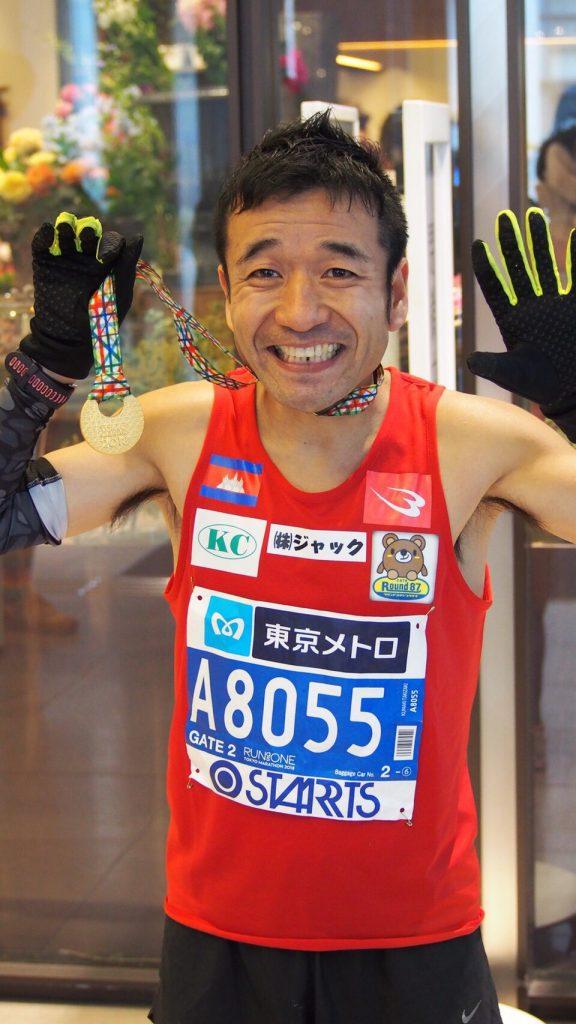 東京マラソン2018猫ひろし